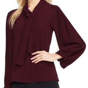 Vince Camuto | Long Sleeve Tie-Neck Blouse